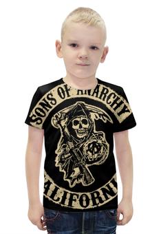 """Футболка с полной запечаткой для мальчиков """"Сыны анархии (Sons of Anarchy)"""" - sons of anarchy, сыны анархии, дети анархии"""