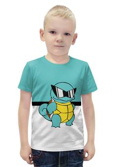 "Футболка с полной запечаткой для мальчиков ""PoKeMon Squirtle"" - pokemon, покемон, сквиртл, squirtle"