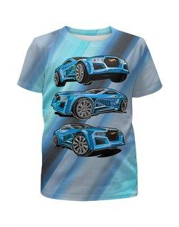 """Футболка с полной запечаткой для мальчиков """"Автогонки (Hot Wheels)"""" - автомобиль, машины, ралли, автогонки"""