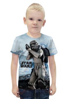 """Футболка с полной запечаткой для мальчиков """"Звёздные войны"""" - star wars, stormtrooper, штурмовик, дарта вейдера, лея органа"""