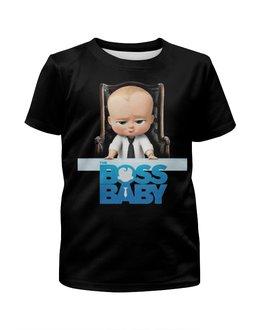 """Футболка с полной запечаткой для мальчиков """"Босс-молокосос / The Boss Baby"""" - мультфильм, рисунок, кино, малыш, босс"""