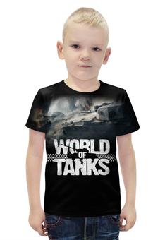 """Футболка с полной запечаткой для мальчиков """"World of Tanks"""" - игры, world of tanks, танки, wot"""