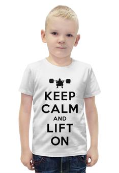 """Футболка с полной запечаткой для мальчиков """"keep calm"""" - keep calm, качалка, кип калм, lift on"""