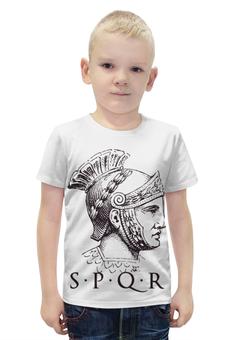 """Футболка с полной запечаткой для мальчиков """"SPRQ: Сенат и народ Рима"""" - история, рим, римская империя, sprq, сенат"""
