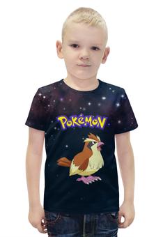 """Футболка с полной запечаткой для мальчиков """"PoKeMon Pidgey"""" - птица, покемон, pidgey, пиджи"""