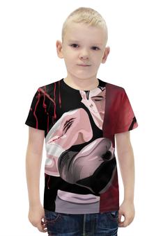 """Футболка с полной запечаткой для мальчиков """"Blood sport"""" - арт, авторские майки, рисунок"""