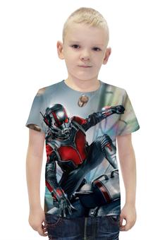 """Футболка с полной запечаткой для мальчиков """"Ant-Man"""" - супергерой, марвел, человек-муравей"""