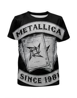 """Футболка с полной запечаткой для мальчиков """"Metallica"""" - heavy metal, metallica, металлика, хэви метал, thrash metal"""