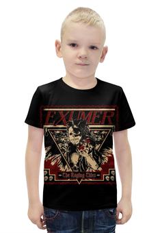 """Футболка с полной запечаткой для мальчиков """"Exumer (thrash metal band)"""" - рок группа, тяжёлый рок, thrash metal, треш метал, exumer"""