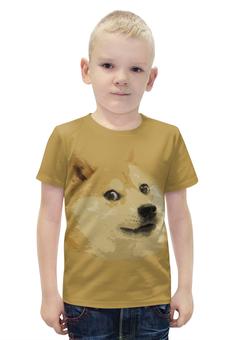 """Футболка с полной запечаткой для мальчиков """"Doge """" - мем, сиба ину, доге, сиба"""