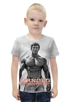 """Футболка с полной запечаткой для мальчиков """"Arnold Schwarzenegger"""" - кино, arnold schwarzenegger, терминатор, terminator, арнольд шварценеггер"""