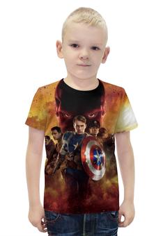 """Футболка с полной запечаткой для мальчиков """"Капитан Америка"""" - usa, комиксы, captain america, мститель"""