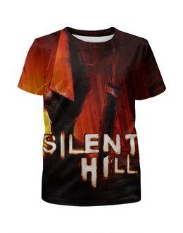 """Футболка с полной запечаткой для мальчиков """"Silent Hill"""" - ужасы, страж, silent hill, сайлент хил"""