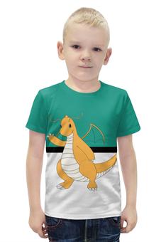 """Футболка с полной запечаткой для мальчиков """"PoKeMon Dragonite"""" - pokemon, покемон, dragonite, драгонит"""