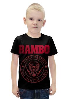 """Футболка с полной запечаткой для мальчиков """"Rambo"""" - боевик, рэмбо, сильвестр сталлоне, rambo, sylvester stallone"""