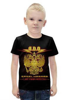 """Футболка с полной запечаткой для мальчиков """"U.D.O. Band"""" - heavy metal, accept, udo, udo dirkschneider, удо диркшнайдер"""
