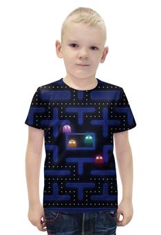 """Футболка с полной запечаткой для мальчиков """"Лабиринт"""" - игра, лабиринт, компьютер"""