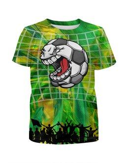 """Футболка с полной запечаткой для мальчиков """"Soccer Ball"""" - футбол, юмор, спорт, мяч, чемпионат"""