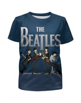 """Футболка с полной запечаткой для мальчиков """"The Beatles """" - битлз"""