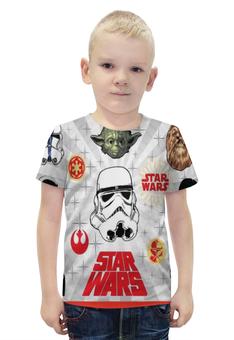 """Футболка с полной запечаткой для мальчиков """"Star Wars"""" - супер герои, звездные войны"""