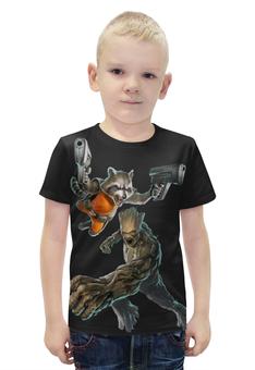 """Футболка с полной запечаткой для мальчиков """"Rocket Raccoon and Groot/Енот Ракета и Грут"""" - marvel, енот, ракета, rocket, groot"""