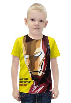 """Футболка с полной запечаткой для мальчиков """"Iron Man"""" - marvel, мстители, железный человек, тони старк, первый мститель"""