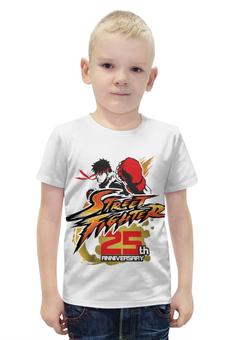 """Футболка с полной запечаткой для мальчиков """"Street Fighter"""" - геймер, уличный боец, по играм, файтинги, игроку"""