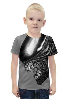 """Футболка с полной запечаткой для мальчиков """"Alien"""" - монстр, чужой, тварь, ufo, инопланетянен"""