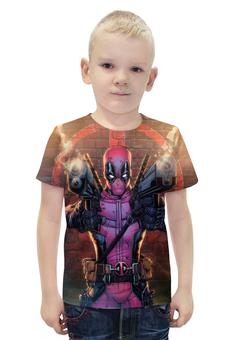 """Футболка с полной запечаткой для мальчиков """"Deadpool"""" - юмор, комиксы, супергерой, марвел, дэдпул"""
