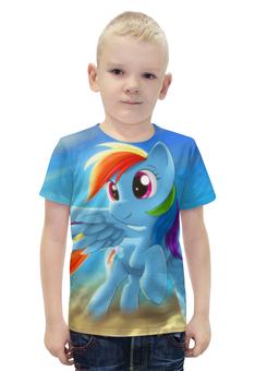 """Футболка с полной запечаткой для мальчиков """"Радуга Дэш"""" - rainbow dash, my little pony, friendship is magic, радуга дэш"""