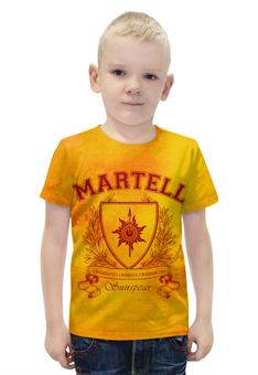 """Футболка с полной запечаткой для мальчиков """"Игра Престолов. Дом Мартеллов"""" - игра престолов, game of thrones, дом мартеллов, house martell, мартеллы"""