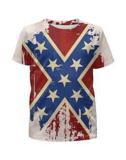 """Футболка с полной запечаткой для мальчиков """"Флаг Конфедерации США"""" - война, америка, флаг, сша, флаг конфедерации"""