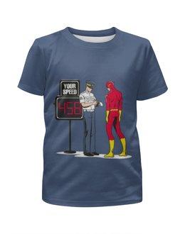 """Футболка с полной запечаткой для мальчиков """"flash"""" - flash, комиксы, dc, флэш"""