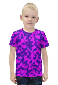 """Футболка с полной запечаткой для мальчиков """"Розово-Синий Камуфляж"""" - армия, камуфляж, camouflage, военный, розово синий камуфляж"""