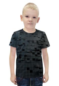 """Футболка с полной запечаткой для мальчиков """"Кубы 3D"""" - 3d, кубы"""