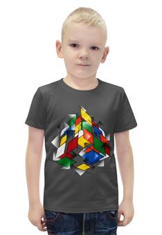 """Футболка с полной запечаткой для мальчиков """"Кубик Рубика"""" - головоломка, 3д"""