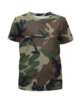 """Футболка с полной запечаткой для мальчиков """"Камуфляж"""" - армия, камуфляж, защита, camo, военный"""