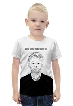 "Футболка с полной запечаткой для мальчиков ""Radiohead Thom Yorke T-Shirt"" - radiohead, thom yorke, том йорк, радиохед, радиохэд"