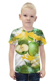 """Футболка с полной запечаткой для мальчиков """"Яблоки"""" - фрукты, рисунок, яблоки"""