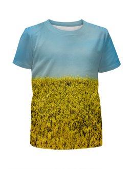"""Футболка с полной запечаткой для мальчиков """"Полевые цветы"""" - растение, весна, природа, цветочки, поле"""