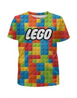 """Футболка с полной запечаткой для мальчиков """"LEGO  """" - лего, lego"""