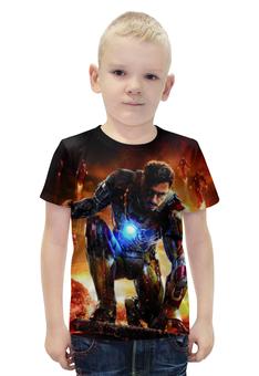 """Футболка с полной запечаткой для мальчиков """"Iron Man"""" - комиксы, герой, мстители, железный человек, тони старк"""