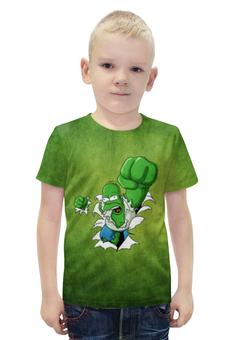 """Футболка с полной запечаткой для мальчиков """"Гомер Симпсон (Халк)"""" - hulk, гомер симпсон, халк, homer simpson"""