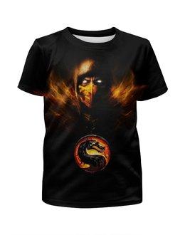"""Футболка с полной запечаткой для мальчиков """"Mortal Kombat"""" - игры, скорпион, mortal kombat, мортал комбат"""