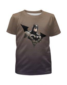 """Футболка с полной запечаткой для мальчиков """"Batman"""" - комиксы, супергерой, бэтман"""