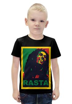 """Футболка с полной запечаткой для мальчиков """"Боб Марли (Bob Marley)"""" - регги, боб марли, bob marley"""