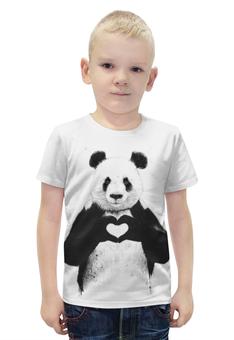 """Футболка с полной запечаткой для мальчиков """"Панда"""" - животные, панда"""
