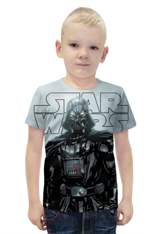 """Футболка с полной запечаткой для мальчиков """"Darth Vader (Star Wars)"""" - космос, фантастика, звездные войны, экшн, дарт вэйдер"""