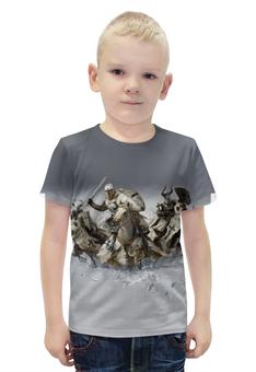 """Футболка с полной запечаткой для мальчиков """"Crusaders"""" - крест, рыцари, крестоносцы, меченосцы"""