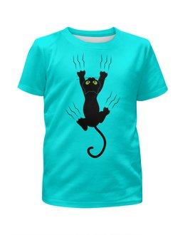 """Футболка с полной запечаткой для мальчиков """"Прикольный кот"""" - кот, животные, котенок, cat, прикольные коты"""